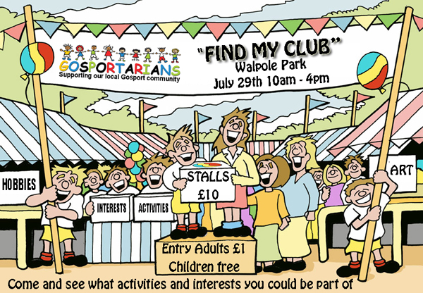 """Find my Club"" community event at Walpole Park July 29th"